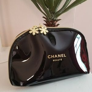 Chanel large travel cosmetic bag